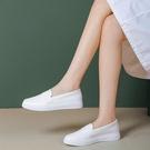 護士鞋女軟底透氣不累腳防滑防臭小白平底夏季醫護工作春秋單鞋子