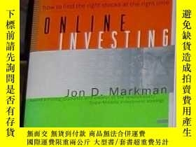 二手書博民逛書店英文原版罕見Online Investing by Jon D