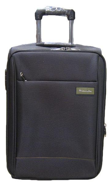 ~雪黛屋~Vallntino 18吋義大利專櫃台灣製造品質保證高丹數防潑水布蜂巢行李箱鋁合金多段拉桿V850318