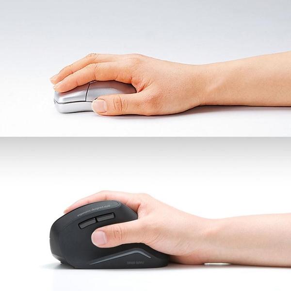 日本SANWA有線/無線/藍牙鼠標usb電腦鼠人體工學直立握式 筆記本蘋果臺式機電腦商務