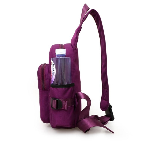 新款胸包布背包戶外運動斜背騎行包胸前旅遊男女包韓版女側背挎包 交換禮物