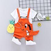 寶寶夏裝背帶褲套裝男1一3-4歲潮嬰兒衣服夏季兩件套小童套裝韓版 春生雜貨