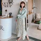 Queen Shop【01084530】滿版小碎花吊帶細肩棉麻洋裝*現+預*