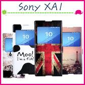 Sony XA1 G3125 5吋 彩繪開窗皮套 磁扣手機套 支架 翻蓋保護殼 可愛卡通手機殼 塗鴉保護套 可插卡