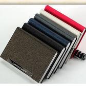 時尚商務名片夾男式女士創意金屬皮質不鏽鋼名片盒薄禮品全館免運