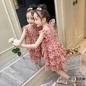 女童連身裙網美女孩夏季時尚兒童裝蛋糕公主裙子【時尚大衣櫥】