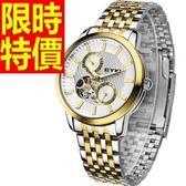 機械錶-陀飛輪鏤空魅力新款男腕錶4色54t14【時尚巴黎】