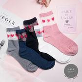 現貨✶正韓直送【K0304】韓國襪子 透膚愛心中筒襪 韓妞必備長襪 百搭純色襪 素色襪 阿華有事嗎