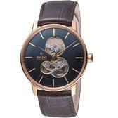 RADO雷達晶璨系列鏤空自動腕錶 R22895165 黑