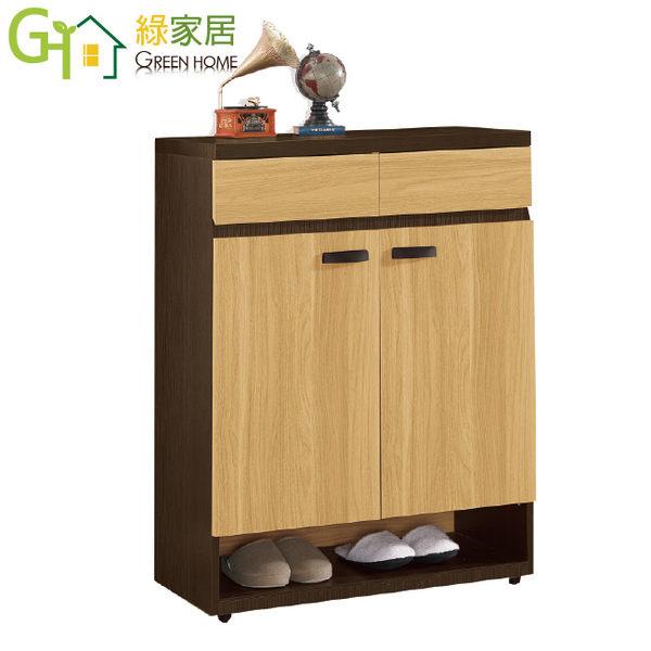 【綠家居】路希亞 時尚2.7尺二門鞋櫃/收納櫃
