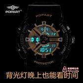 兒童手錶 電子手錶女學生運動韓版簡約氣質初中機械手錶男潮流ins風獨角獸 多色