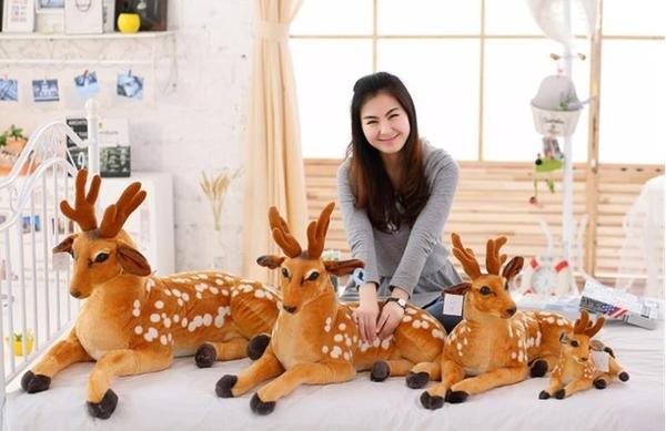 【75公分】梅花鹿 仿真動物玩偶 絨毛娃娃 公仔 生日禮物 擺設裝飾布置 聖誕節交換禮物