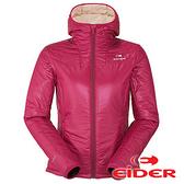 【法國Eider】女 防風保暖抗雪 連帽外套 玫瑰唇紅 EIV3315