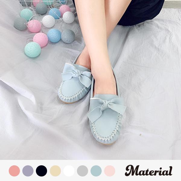 包鞋 甜美蝴蝶結豆豆鞋 真皮鞋墊 MA女鞋 T11903