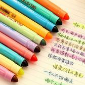 韓國文具 糖果色固體螢光筆(10色可選)【庫奇小舖】