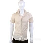 KENZO 素面短袖襯衫(淺卡其色) 0810371-28