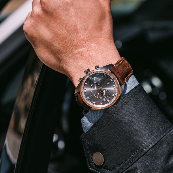 Favre-Leuba 域峰錶 Sky Chief Chronograph 雙眼魅時機械計時手錶 00.10202.05.31.44