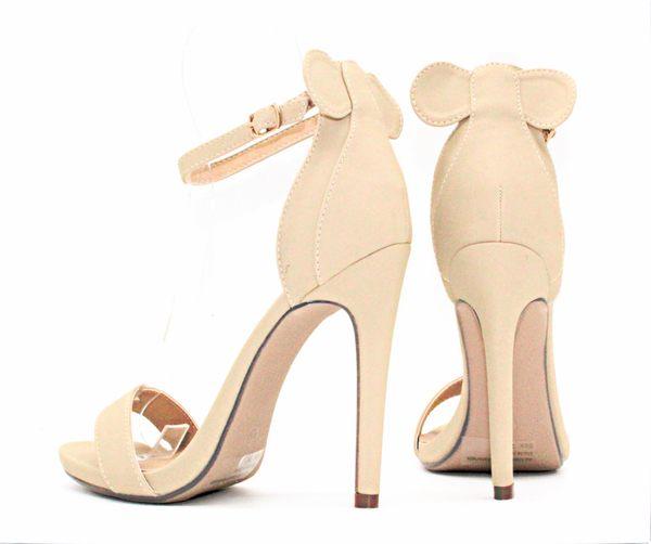 GLAZE 獨家限量一字繫帶後蝴蝶結金屬釦帶繫踝高跟涼鞋-3色『杏色下標區』