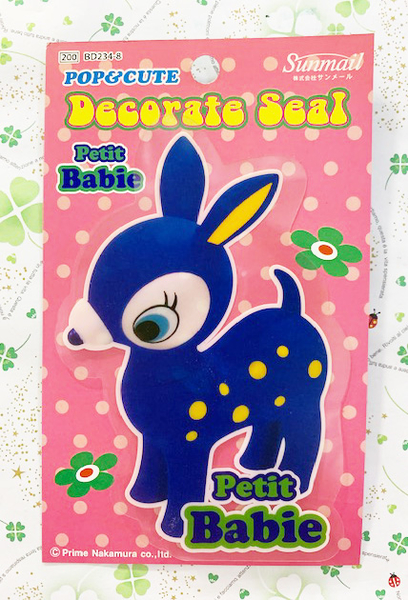 【震撼精品百貨】凱蒂貓_Hello Kitty~日本SANRIO三麗鷗Deery Lou小鹿貼紙-藍*23484