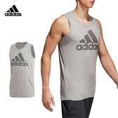 Adidas Mesh Bos 男 灰 背心 運動背心 無袖 短T 棉T 短袖 籃球 慢跑 健身 愛迪達 上衣 CV4531