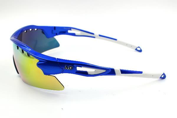 AD品牌~單片式全金紅彩銥運動防風護目太陽眼鏡~台灣外銷精品 型號MARS