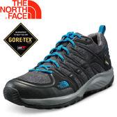 【The North Face 男款 GORE-TEX低筒登山健行鞋 灰雜印花/藍】NF00CJ8W/低筒/登山鞋/健行鞋★滿額送