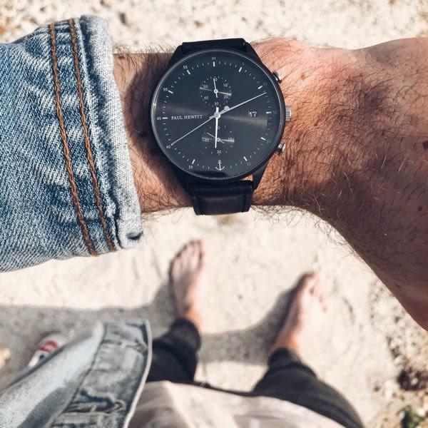 【台南 時代鐘錶 PAUL HEWITT】德國工藝 Chrono Line 簡約風格計時腕錶 PH-C-B-BSS-2M