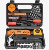 五金工具亞得力家用電鑽手工具套裝五金工具箱電工木工多功能專用維修工具3C公社