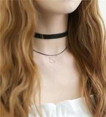 短款鎖骨鏈三件脖子頸帶項圈女簡約學生蕾絲頸項鏈緞帶頸鏈繞出頸間萬種風情