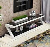 電視櫃簡約現代時尚客廳茶桌鋼化玻璃烤漆家用簡易電視櫃茶幾組合igo 西城故事