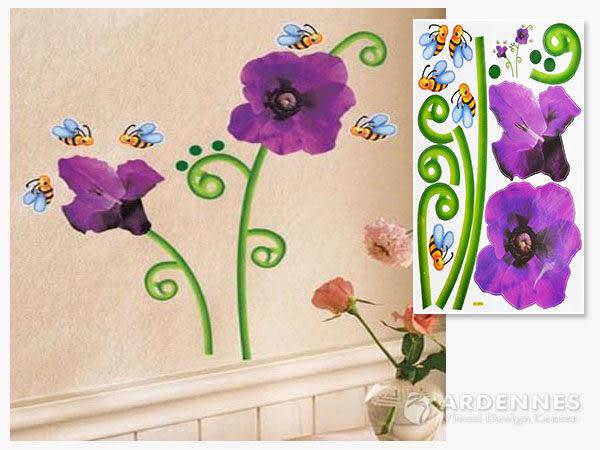 【ARDENNES】創意組合DIY壁貼/牆貼/兒童教室佈置(大) 蜜蜂與花