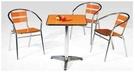 【 C . L 居家生活館 】F-866 鋁管方桌桌椅組(一桌三椅)/多款顏色款式/鋁桌80*80*71 cm