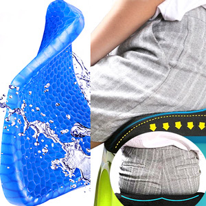 蜂巢式凝膠坐墊(送防塵套)水感凝膠墊.汽車坐墊辦公椅墊子.雞蛋座墊減壓軟墊.冰涼墊透氣靠墊