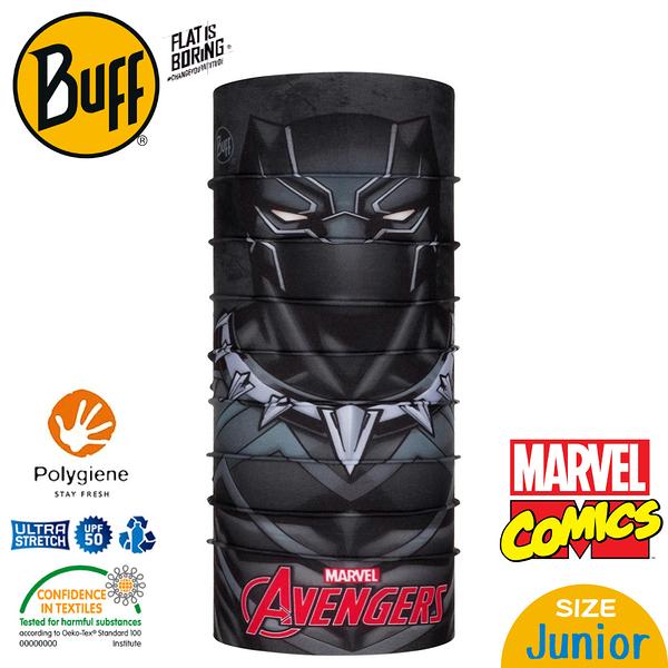 【BUFF 西班牙 青少年超級英雄 經典頭巾 Plus 黑豹】121591/漫威/圍脖/帽子/口罩/圍巾/吸溼排汗