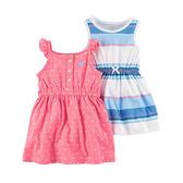 Carter's平行輸入童裝 女寶寶 背心裙子&露肩裙&內褲 粉點點【CA121I177】