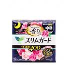 【日本花王】Laurier 零觸感薄型 玫瑰花香 夜用量多衛生棉40cm_10枚入