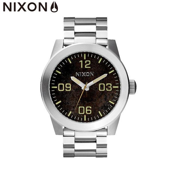 NIXON手錶 原廠總代理A346-1956 THE CORPORAL SS銀黑色 潮流時尚鋼錶帶 男女 運動 生日情人節禮物
