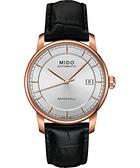 MIDO 美度 Baroncelli II 爵士時尚機械手錶-銀X玫塊金框 M86003104