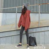 連帽衛衣女冬季新款韓版潮學院bf風寬鬆學生純色ulzzang套頭 麥琪精品屋