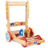 學步車 寶寶木質學步車折疊帶音樂6/7-18個月防側翻可坐嬰兒童手推助步車JD 寶貝計畫
