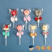 100組 棒棒糖包裝袋塑料可愛蝴蝶結扎絲手工三件套【淘嘟嘟】
