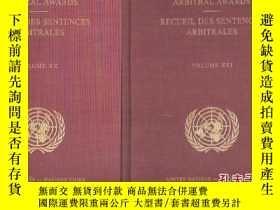 二手書博民逛書店REPORTS罕見OF INTERNATIONAL ARBITRAL AWARDS RECUEIL DES SEN