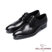 CUMAR成熟穩重 簡約綁帶紳士皮鞋-黑