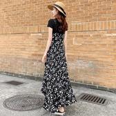小雛菊碎花長裙女2020夏法式兩件套初戀吊帶裙顯瘦過膝雪紡洋裝