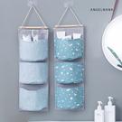 壁掛式收納袋-棉麻布彩色宿舍門後牆壁懸掛式三層儲物袋 AngelNaNa SKA0010