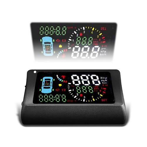 TSA S500-T Smart HUD+TPMS 胎壓偵測器型抬頭顯示器(獨家贈品一分二OBD2延長線)