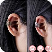 U型耳骨夾耳夾耳環 復古鏤空無耳洞隱形耳飾 情侶男女通用【B1082】