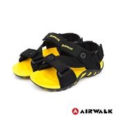 【AIRWALK】Z字造型運動涼鞋-童款-大黃蜂