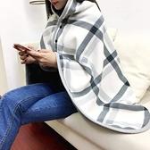 多用途懶人披肩毛毯辦公室家居休閑午睡蓋毯秋冬雙層加厚單人毯子快速出貨