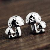 925純銀耳環 (耳針式)-精美復古蘑菇生日七夕情人節禮物女飾品73ag210【巴黎精品】